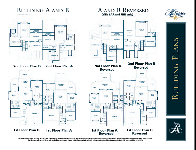 The Reserve Club Villas Floorplans